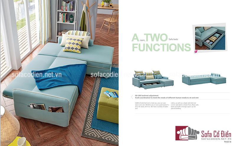 Ghế sofa dạng góc dễ dàng phù hợp với bất kì không gian phòng khách nào