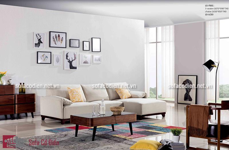 Sofa màu trắng dễ dàng phù hợp với bất kì căn phòng khách nào, dù là kích thước nhỏ hẹp