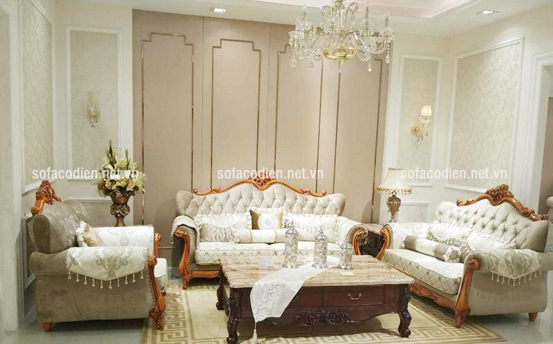 Sofa cổ điển châu Âu thiết kế dành cho cho biệt thự sang trọng