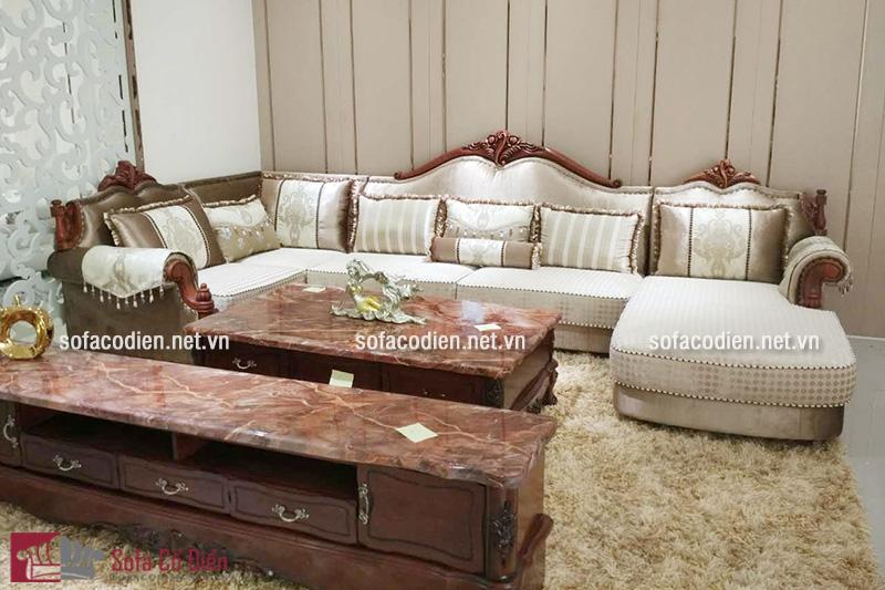 Sofa phong cách cổ điển màu nâu trầm