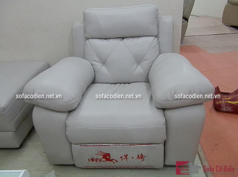 Ghế sofa thư giãn đơn bằng chất liệu vải nỉ cao cấp mang đến cho gia đình cảm giác êm ái, dễ chịu nhất