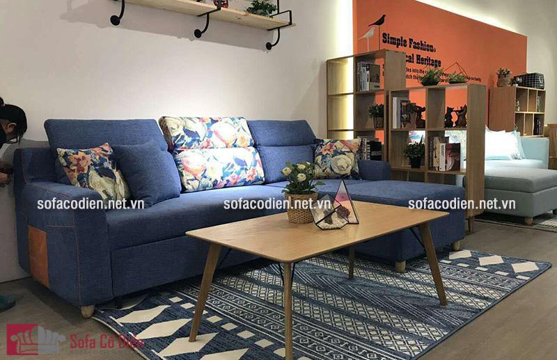 Sofa giường đa năng dạng góc tận dụng tối đa góc chết tường phòng khách