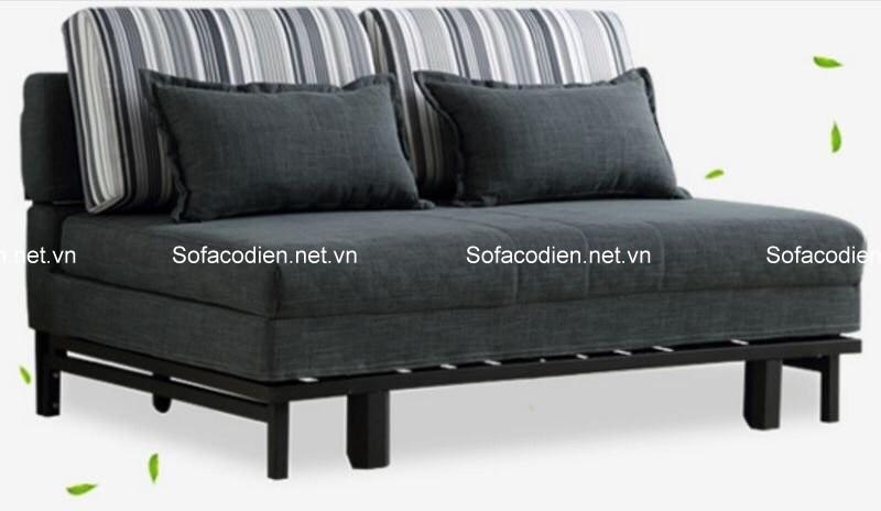 Mẫu ghế sofa giường thiết kế không tay vịn trẻ trung, và tiết kiệm diện tích
