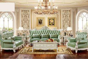 Các mẫu ghế sofa cổ điển Châu Âu cho nhà biệt thự cao cấp