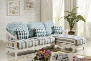 Ghế sofa vải mang không gian ấm áp đến cho phòng khách