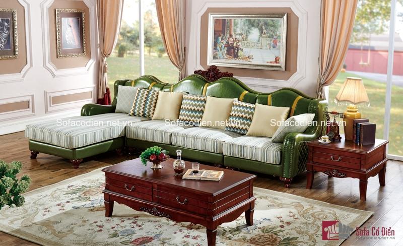 Màu xanh độc đáo của chiếc ghế sofa cổ điển này chính là tâm điểm chú ý trong phòng khách của bạn