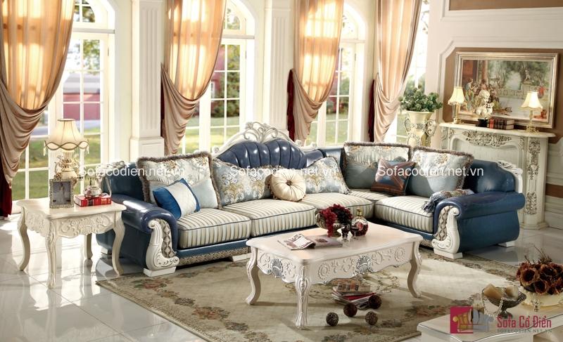 Đại diện cho sự giàu sang và quý tộc, chiếc ghế sofa cổ điển chính là báu vật được đặt giữa phòng khách