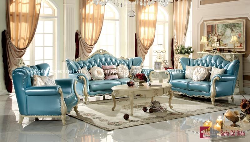 Sắc xanh của ghế sofa tân cổ điển sẽ mang đến những làn gió mới
