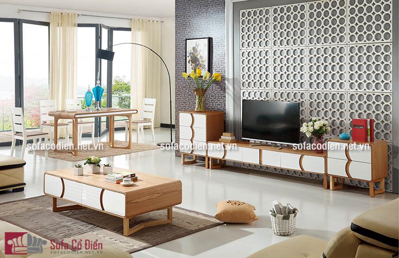 Mẫu bàn trà sofa gỗ