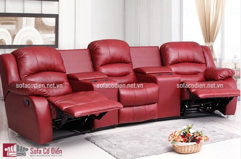 Bộ ghế sofa màu đỏ lịch lãm thiết kế thông minh mang đến sự thư giãn tuyệt đối cho gia đình