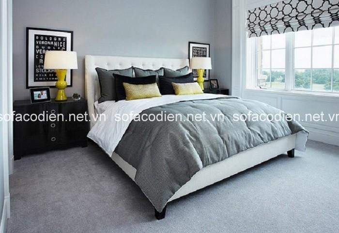 Thiết kế ấn tượng với sắc xám trong phòng ngủ hiện đại
